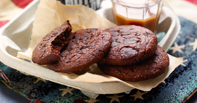 Double Choc Cookies